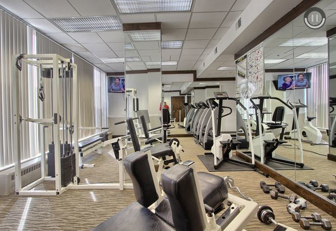 Exercise room at Harrisburg Suites Corporate Houisng