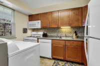 Executive housing with in unit washer and dryer